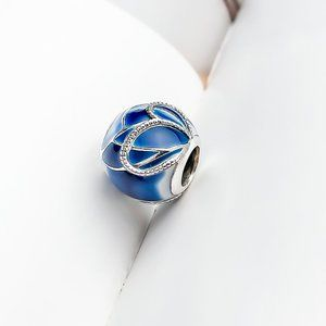 Blue Butterfly Wing Charm